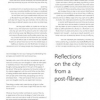 Reflections on the city from a post-flaneur by Ruth Maclennan