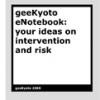 geeKyoto eNotebook: your ideas on intervention and risk