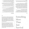Something More Than Just Survival by Janet Owen Driggs &#038; Jules Rochielle