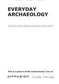 Everyday Archaeology Student Learning Diary