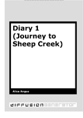 Diary 1 (Journey to Sheep Creek)