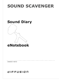 Sound Scavenger eNotebook