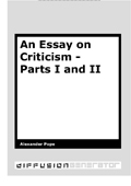 an essay on criticism part 1